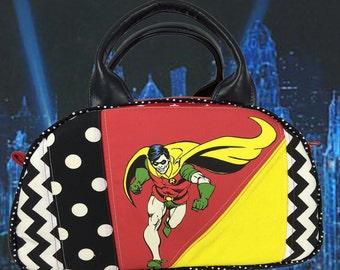 Robin and Batman Vintage-inspired Dottie Purse