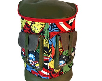 Marvel Comics Spider-Man Hulk Captain America Wolverine Iron Man Thor Backpack