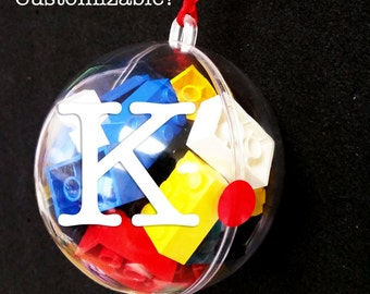 """LEGO Filled Ornament - Multi-Color  4"""" - free shipping! Great Christmas ornament & present in one for kids!"""