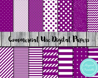 Purple Digital Papers, Purple Scrapbook Papers, Instant Download, Commercial Use, Scrapbook Digital Papers, Digital Background, DP07