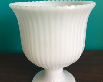 EO Brody antique white Milk Glass Vase
