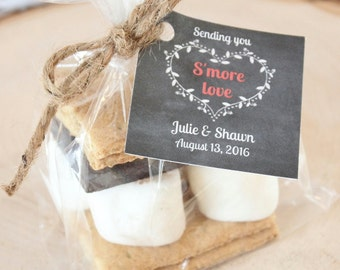 S'more favors packaging-smore tags, wedding favors, rustic wedding favors, smore, wedding favor packaging, smore wedding tags