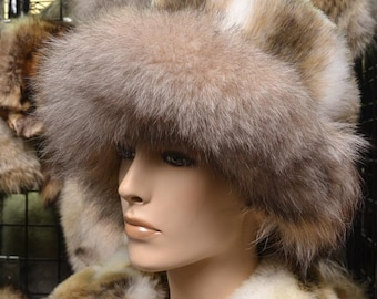 Winter Hat With Pure Fox Fur Trimming
