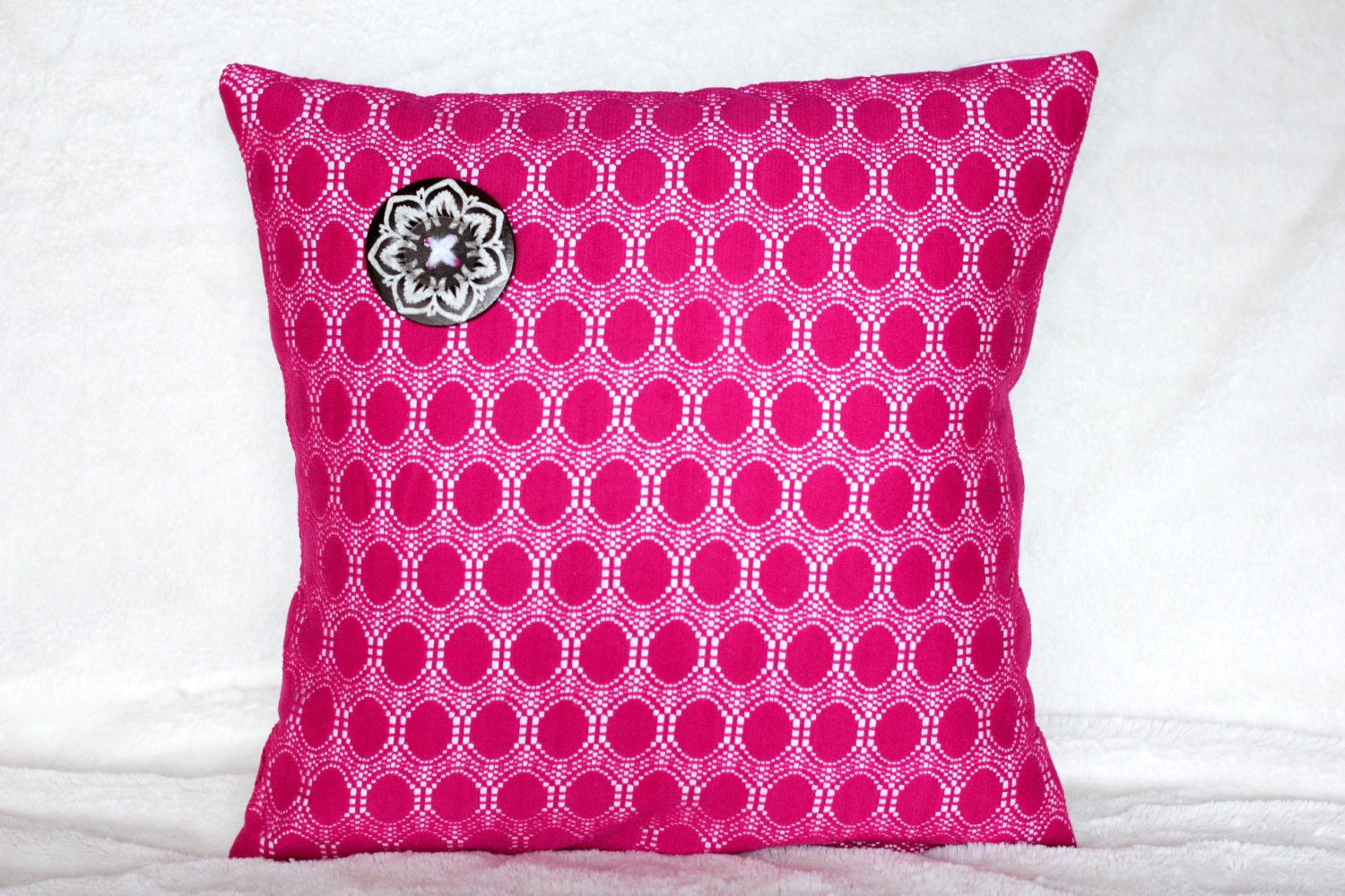 30 off sale hot pink pillow cover pink throw pillow summer. Black Bedroom Furniture Sets. Home Design Ideas