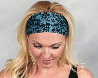 Yoga Headband-Running Headband-Black Bohemian Headband-Black Fitness Headband-Women Headband-Moisture Wicking Headband-No Slip Headband