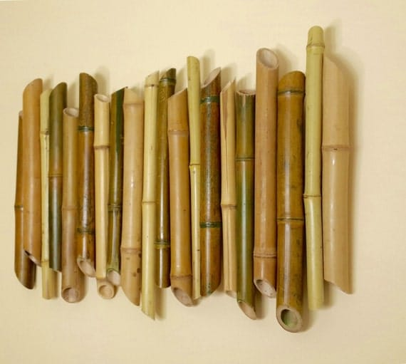 Bamboo Wood Wall Decor : Bamboo wall decoration branch art wood