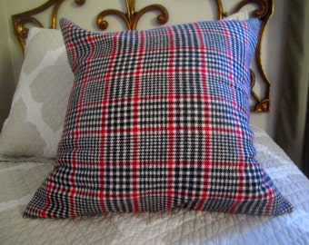 Black and red Plaid Pillow