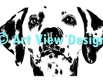 Pattern Dalmation Dog ©