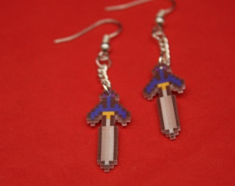 Legend of Zelda Master Sword Drop Earrings