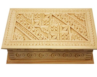 Small wooden box Handmade Wooden box carved Wooden jewelry box Wedding box carving Wood box Wooden crate Wooden chest Wedding gift for woman