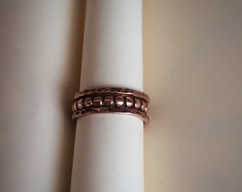 Copper STACKING RINGS Set of Three - Oxidised - Handcrafted - Valentines - Mothersday