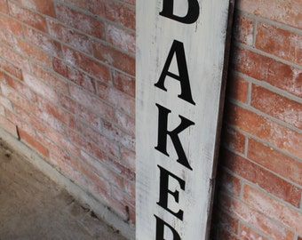Vertical Bakery, Bakery Sign, Large Bakery Sign, Bakery Sign Vertical, Fixer Upper Wall Decor, Kitchen Sign, Handmade Sign for Kitchen,