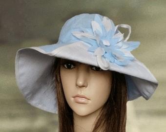 Hats linen women, Linen suns hats, Blue summer hats, Sun hat wide brim, Summer trendy hat, Hats for summer, Linen hats lady, Suns hats lady