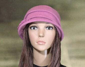 Womens felt hats, Ladies wool hats, Felted wool hats, Pink felt hats, Winter womens hat, Women's  felted hats, Felt hat for lady, Felted hat