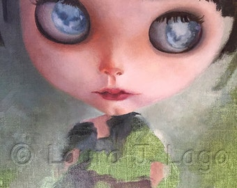Blythe Doll Print from Original Oil painting by Artist Laura J. Lago ljlago.com