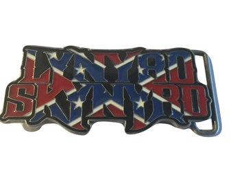 Lynard Skynard Rock Band Name Logo Belt Buckle