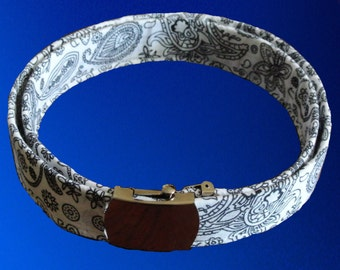 100% Paisley Bandana Sewn Around Canvas Belt