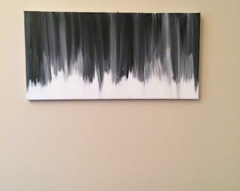 Black and white original painting