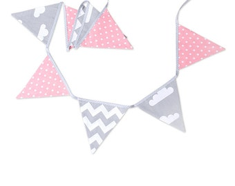 Garland Triangle Bunting Banner Cloudy Rose