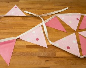 Pink and Pink Polka Dot Bunting