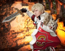 Patroklos Soulcalibur V cosplay costume with sword and shield