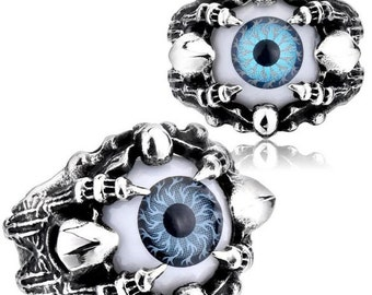 Stainless steel ring eye with claws for him and her (in 2 colors)