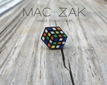 Laser Cut Wood Pin-Rubik