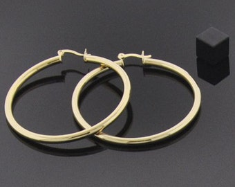 18K Gold Filled Large Hoops - Lasts for YEARS