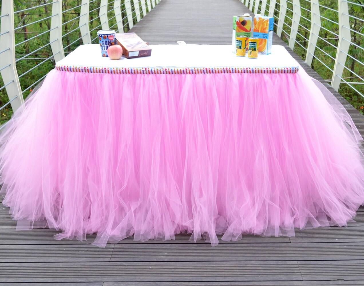 Tutu Table Skirt In Handmade