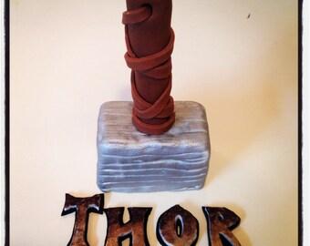 Thor Hammer Cake Topper
