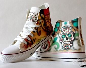 Sugar Skull custom shoe decoration