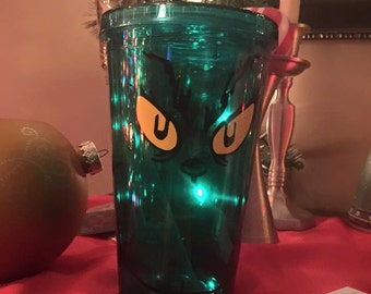 Grinch Christmas tumbler cup