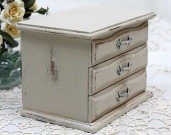Medium Upcycled Vintage Decoupage Jewelry Box
