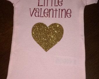 Little Valentine 3 month onesie