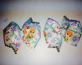 Frozen! 2 pair bows READY To SHIP!!