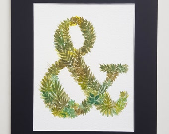 Watercolor ampersand