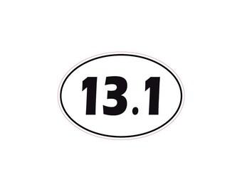 Classic 13.1 Half Marathon Car Window Sticker Decal