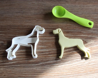 Great Dane Ears Down Cookie Cutter Dog Breed Treat Cutter puppy cupcake toppers