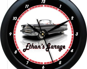 """Classic Car Custom Design With You Photo 10"""" Personalized Wall Clock"""