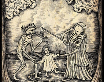 Visitation of the Reaper A3 Print