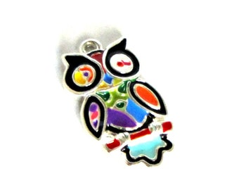 Colorful Owls Charms Set of 3