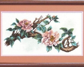 Peony   . Kit for Cross Stitch Embroidery