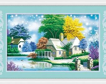DIY Diamond Painting Round Diamonds Embroidery Home Decoration
