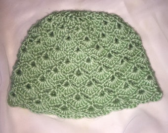 Crochet Shell Baby Hat