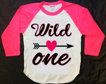 Wild One first birthday shirt, wild one shirt, aztec shirt, arrow shirt, hipster shirt, baseball shirt