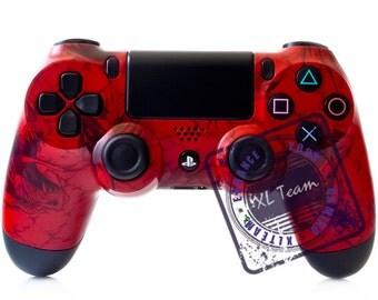 Custom PS4 Controller PlayStation 4 PS4 Dualshock 4 Controller - Red Dragon Design
