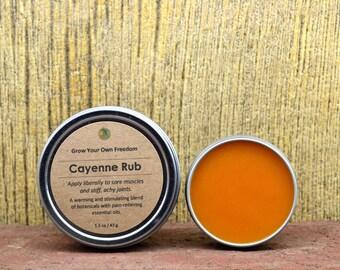 Set of 3 - Muscle Rub - Organic Cayenne Rub