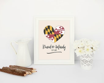 maryland love // wedding sign // printable // custom