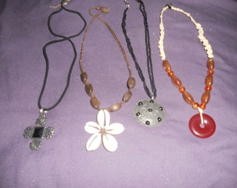 Vintage Set/4 Necklaces