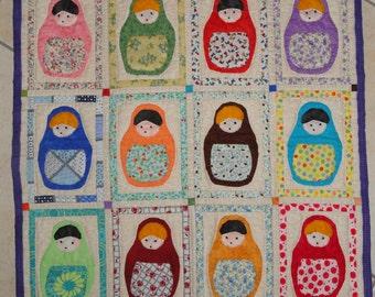MATRIOCHKAS   Wall Art   quilt patchwork   Ready to send